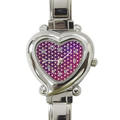 Texture Background Pattern Heart Italian Charm Watch