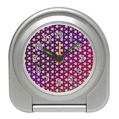 Texture Background Pattern Travel Alarm Clock