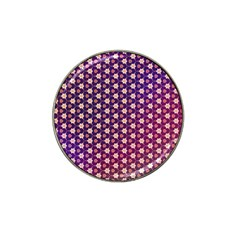 Texture Background Pattern Hat Clip Ball Marker (4 Pack)