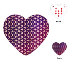 Texture Background Pattern Playing Cards (heart)