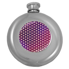 Texture Background Pattern Round Hip Flask (5 Oz)