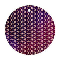 Texture Background Pattern Round Ornament (two Sides)