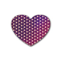 Texture Background Pattern Rubber Coaster (heart)