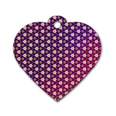 Texture Background Pattern Dog Tag Heart (one Side)