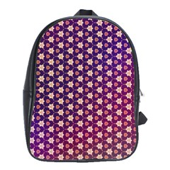 Texture Background Pattern School Bag (large)