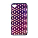 Texture Background Pattern iPhone 4 Case (Black) Front