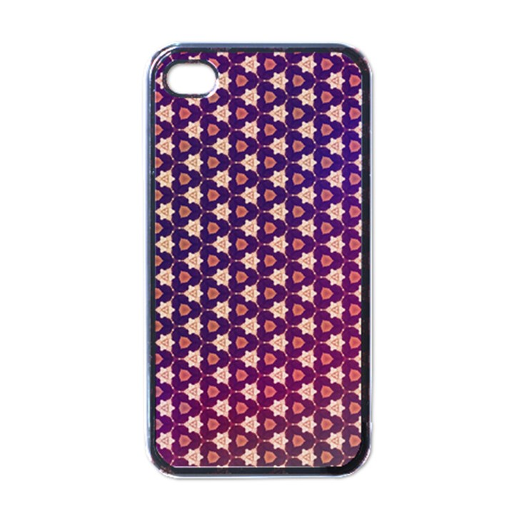 Texture Background Pattern iPhone 4 Case (Black)