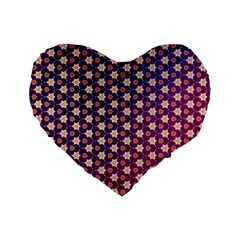 Texture Background Pattern Standard 16  Premium Heart Shape Cushions