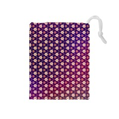 Texture Background Pattern Drawstring Pouch (medium)
