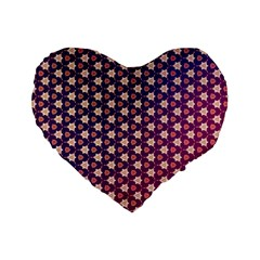 Texture Background Pattern Standard 16  Premium Flano Heart Shape Cushions