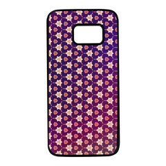 Texture Background Pattern Samsung Galaxy S7 Black Seamless Case