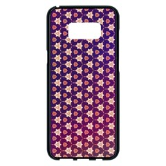 Texture Background Pattern Samsung Galaxy S8 Plus Black Seamless Case