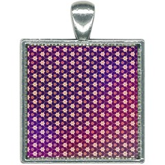 Texture Background Pattern Square Necklace
