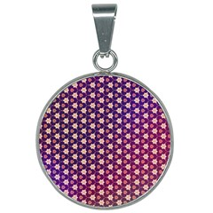 Texture Background Pattern 25mm Round Necklace