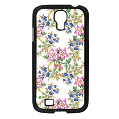 Watercolor Flowers Pattern Samsung Galaxy S4 I9500/ I9505 Case (black)
