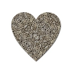 Cyber Punk Pattern Design Heart Magnet by dflcprintsclothing