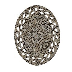 Cyber Punk Pattern Design Oval Filigree Ornament (two Sides)