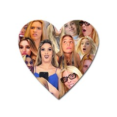 Lele Pons   Funny Faces Heart Magnet by Valentinaart