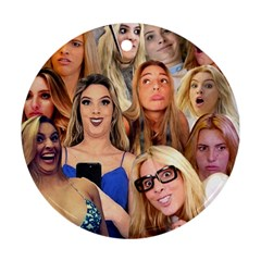 Lele Pons   Funny Faces Round Ornament (two Sides)