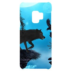 Awesome Black Wolf With Crow And Spider Samsung S9 Frosting Case