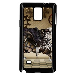Awesome Steampunk Unicorn With Wings Samsung Galaxy Note 4 Case (black)