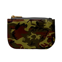 Camo Green Brown Mini Coin Purse