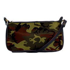 Camo Green Brown Shoulder Clutch Bag
