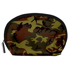 Camo Green Brown Accessory Pouch (large)