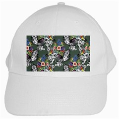 Vintage flowers and birds pattern White Cap