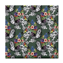 Vintage flowers and birds pattern Tile Coasters