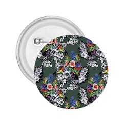 Vintage flowers and birds pattern 2.25  Buttons