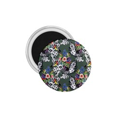 Vintage flowers and birds pattern 1.75  Magnets