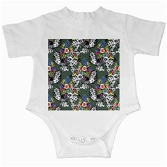 Vintage flowers and birds pattern Infant Creepers