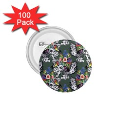 Vintage flowers and birds pattern 1.75  Buttons (100 pack)