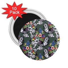 Vintage flowers and birds pattern 2.25  Magnets (10 pack)