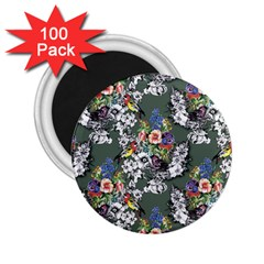 Vintage flowers and birds pattern 2.25  Magnets (100 pack)