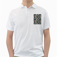 Vintage flowers and birds pattern Golf Shirt