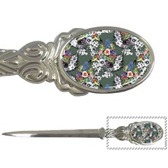 Vintage flowers and birds pattern Letter Opener