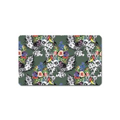 Vintage flowers and birds pattern Magnet (Name Card)