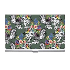 Vintage flowers and birds pattern Business Card Holder