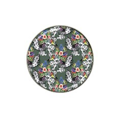 Vintage flowers and birds pattern Hat Clip Ball Marker (4 pack)
