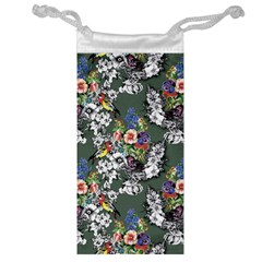 Vintage flowers and birds pattern Jewelry Bag