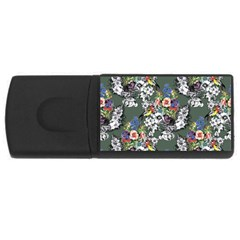 Vintage flowers and birds pattern Rectangular USB Flash Drive