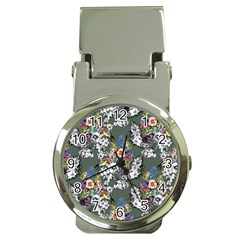 Vintage flowers and birds pattern Money Clip Watches
