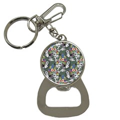 Vintage flowers and birds pattern Bottle Opener Key Chains