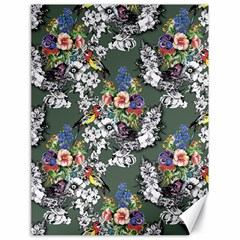 Vintage flowers and birds pattern Canvas 18  x 24