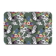 Vintage flowers and birds pattern Plate Mats
