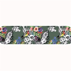 Vintage flowers and birds pattern Large Bar Mats