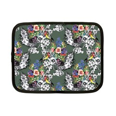 Vintage flowers and birds pattern Netbook Case (Small)
