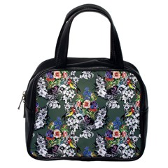 Vintage flowers and birds pattern Classic Handbag (One Side)